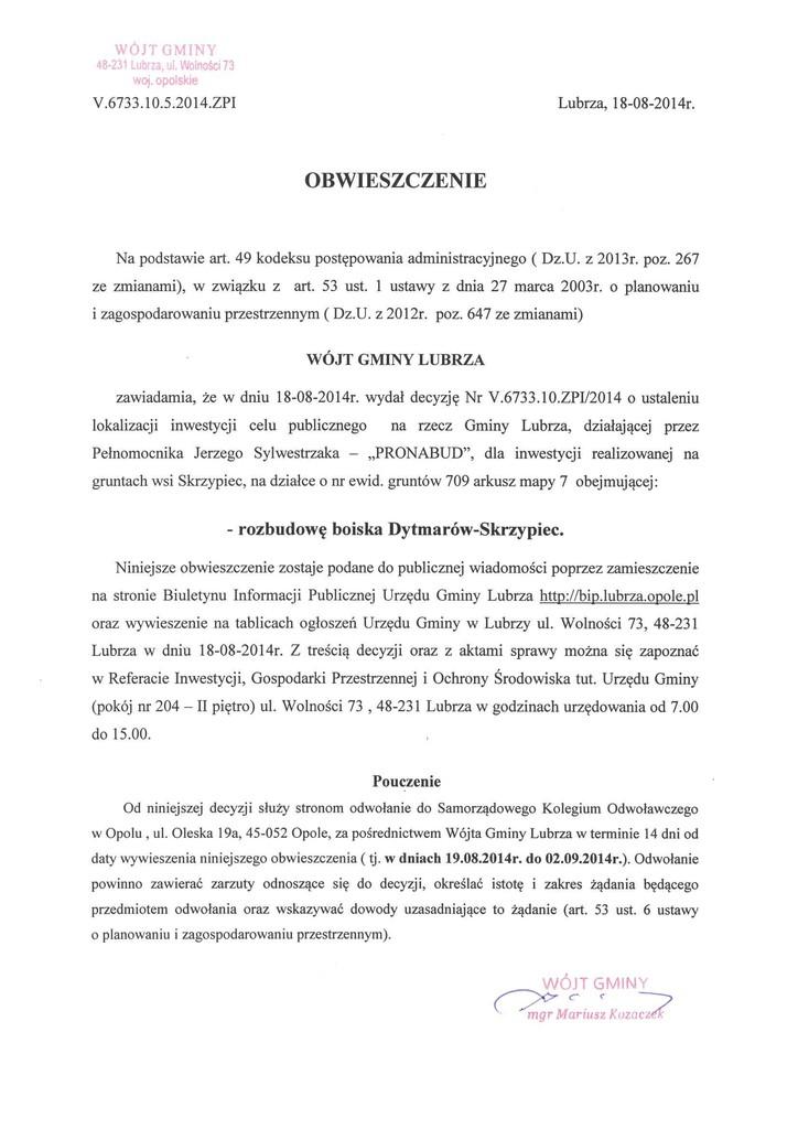 Obwieszczenie  V.6733.10.5.2014.ZPI.jpeg